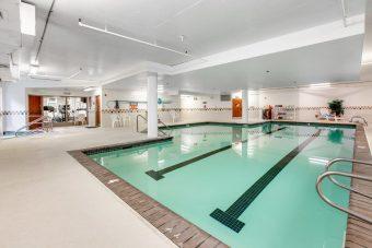 Indoor saline pool